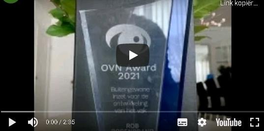 Rob Rosenbrand ontvangt OVN-Award